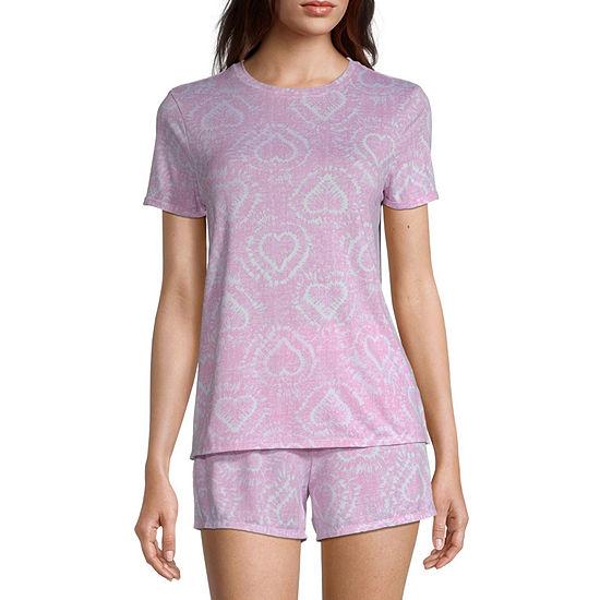 Jaclyn Womens Shorts Pajama Set 2-pc. Short Sleeve