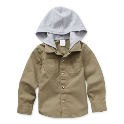 Okie Dokie Toddler Boys Cuffed Sleeve Hoodie
