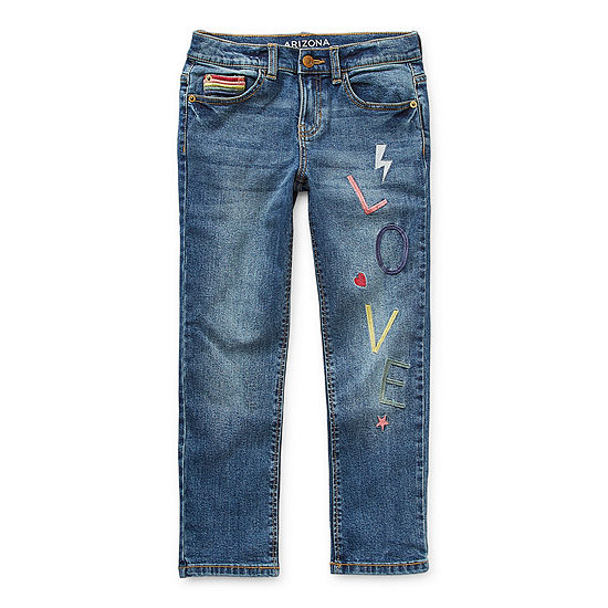 Arizona Little & Big Girls Skinny Skinny Fit Jean