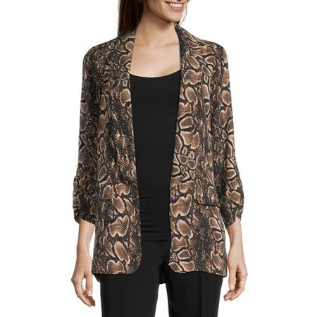 Worthington Womens Regular Fit Blazer, Small , Brown