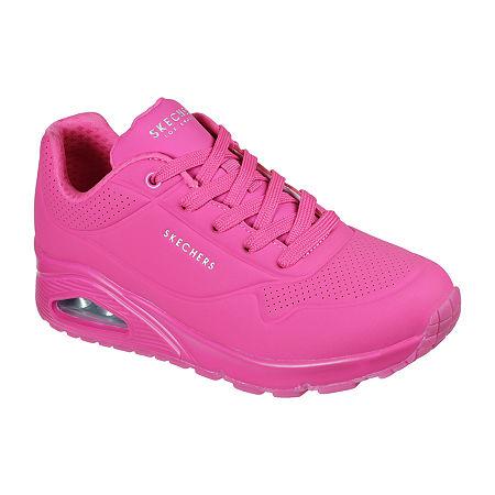 Vintage Sneakers, Retro Designs for Women Skechers Uno- Night Shades Womens Sneakers 6 12 Medium Pink $65.00 AT vintagedancer.com