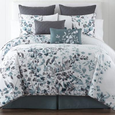 Liz Claiborne® Silhouette Floral 4-pc. Comforter Set