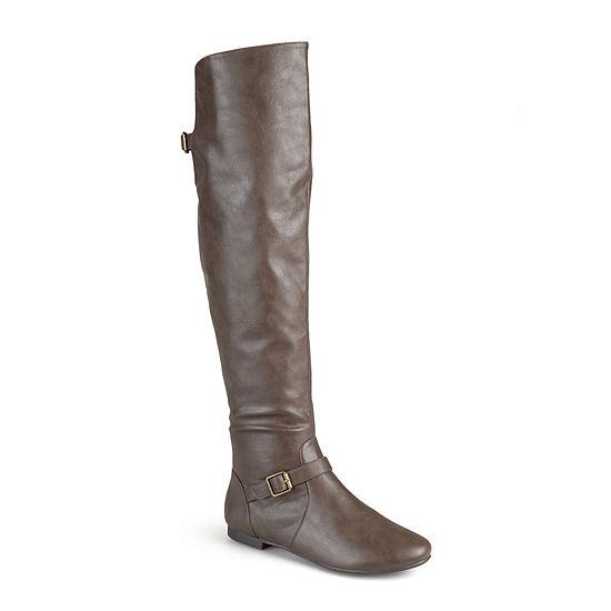 Journee Collection Womens Loft Wide Calf Knee-High Riding Boots