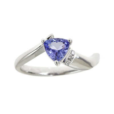 LIMITED QUANTITIES  Genuine Tanzanite and Diamond-Accent Ring