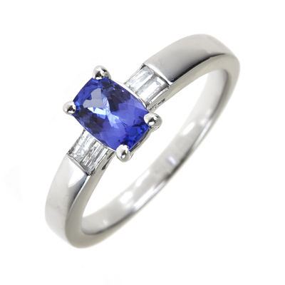 LIMITED QUANTITIES  Genuine Tanzanite and Diamond-Accent Sterling Silver Ring