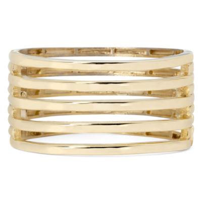 KJL by KENNETH JAY LANE Gold-Tone 5-Row Hinged Cuff Bracelet