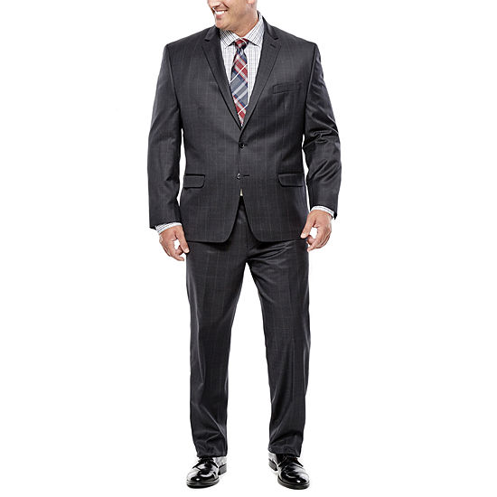 19fa2f03 Collection by Michael Strahan Charcoal Windowpane Suit Separates - Big &  Tall