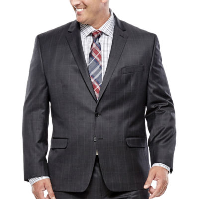 Collection by Michael Strahan Charcoal Windowpane Suit Jacket - Big & Tall