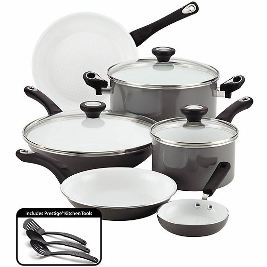 Farberware® Pure Cook 12-pc. Nonstick Ceramic Cookware Set - Includes Prestige Tools