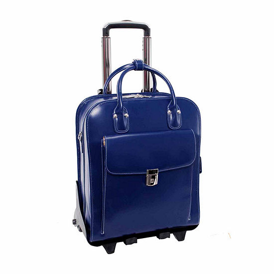 Mckleinusa La Grange 154 Leather Vertical Detachable Wheeled Laptop Briefcase