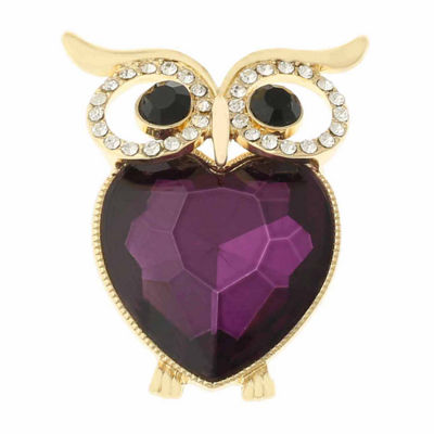 Monet® Crystal Owl Pin
