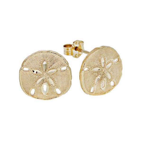 14k gold sand dollar stud earrings jcpenney