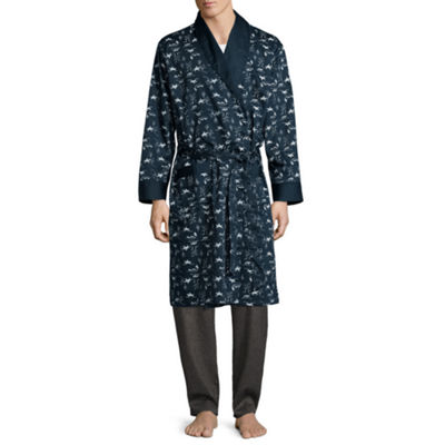 Stafford® Men's Sateen Long Sleeve Robe