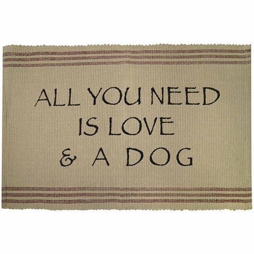 P. B. Paws by Park B. Smith® Need Love And Dog Cotton Pet Mat