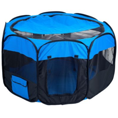 Petmaker Pet Pop-Up Playpen Deluxe with Canvas Carrying Bag