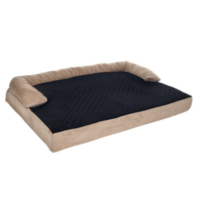 Petmaker Orthopedic Memory Foam Pet Bed with Bolster