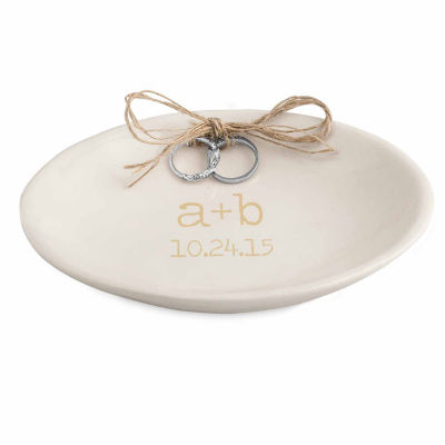 cathys concepts accented personalized wedding ring dish - Wedding Ring Dish