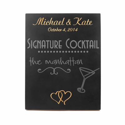Cathy's Concepts Custom Double Heart Wedding Chalkboard Sign
