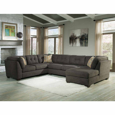 Signature Design by Ashley® Delta City 3-pc. Sleeper Sofa Sectional