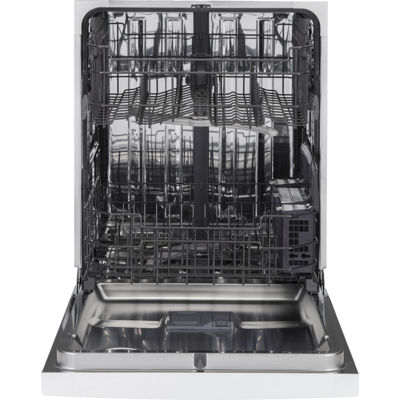 GE® ENERGY STAR® Stainless Steel Interior Dishwasher with Front Controls