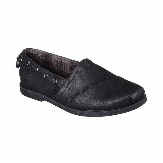 Skechers Bobs Womens Chill Luxe Buttoned Up Slip-On Shoe