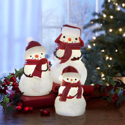 Apothecary Led Snowman 3-pc. Flameless Candle