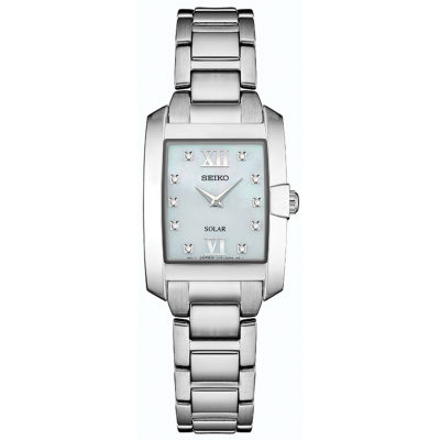 Seiko Dress Sport Womens Silver Tone Bracelet Watch-Sup377
