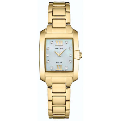 Seiko Dress Sport Womens Gold Tone Bracelet Watch-SUP378