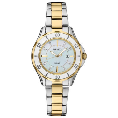 Seiko Dress Sport Womens Two Tone Bracelet Watch-Sut338