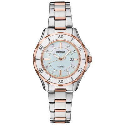 Seiko Dress Sport Womens Two Tone Bracelet Watch-Sut340