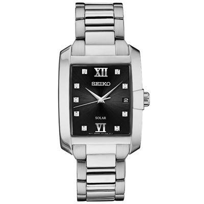 Seiko Dress Sport Mens Silver Tone Bracelet Watch-Sne461