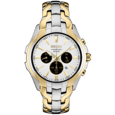 Seiko Chronograph Mens Two Tone Bracelet Watch-Ssc634