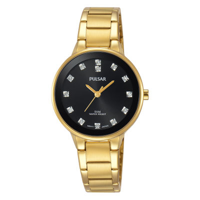 Pulsar Dress Womens Gold Tone Bracelet Watch-Prs678