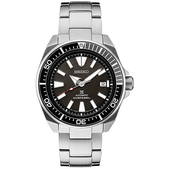 Seiko Prospex Automatic Diver Mens Automatic Silver Tone Stainless Steel Bracelet Watch-Srpb51