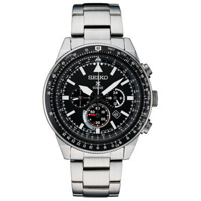 Seiko Prospex Chronograph Mens Silver Tone Bracelet Watch-Ssc629