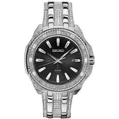 Seiko Dress Mens Silver Tone Bracelet Watch-Sne457