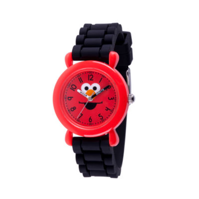 Sesame Street Boys Black Strap Watch-Wss000026