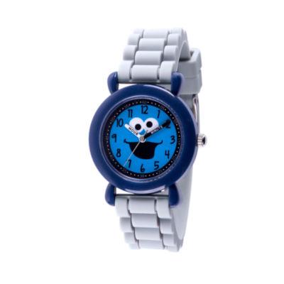 Sesame Street Boys Gray Strap Watch-Wss000029