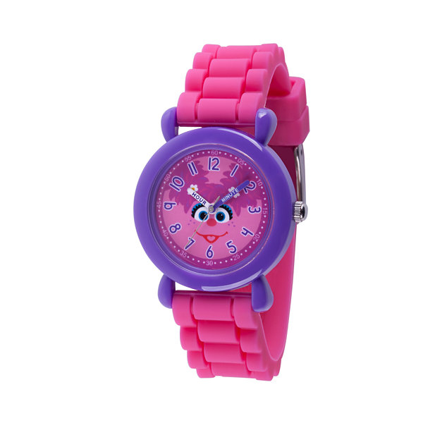 Sesame Street Girls Pink Strap Watch-Wss000032