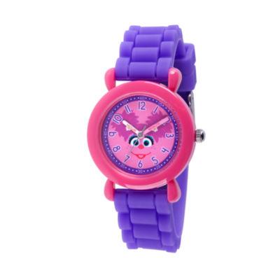 Sesame Street Girls Purple Strap Watch-Wss000033
