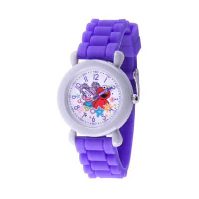 Sesame Street Girls Purple Strap Watch-Wss000036