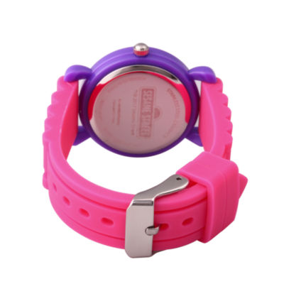 Sesame Street Girls Pink Strap Watch-Wss000037