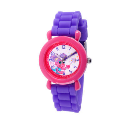 Sesame Street Girls Purple Strap Watch-Wss000038