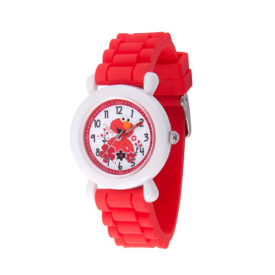Sesame Street Boys Red Strap Watch-Wss000039