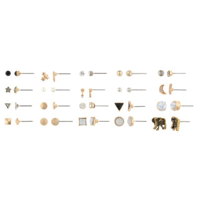 Decree Clear Round Earring Sets
