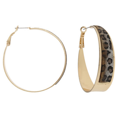 Mixit 1 1/2 Inch Hoop Earrings