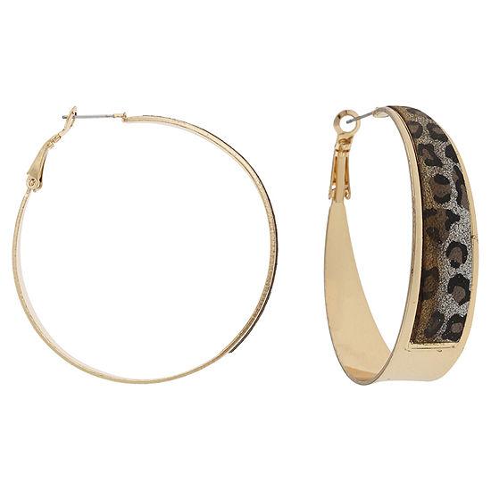 Mixit 1 1/2 Inch Hoop Earrings