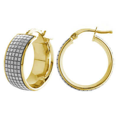 Made In Italy 14K Gold 20mm Round Hoop Earrings