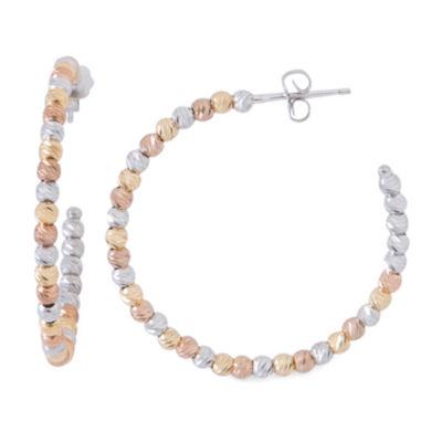 14K Gold Over Silver Hoop Earrings