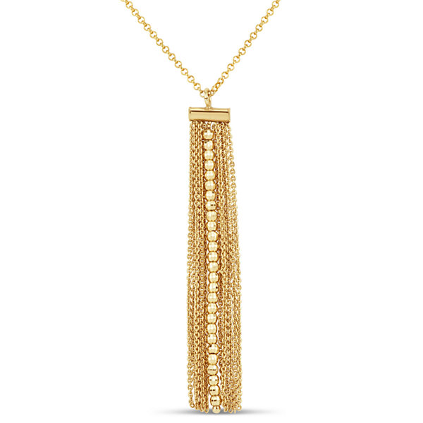 Made In Italy Womens 18K Gold Over Silver Pendant Necklace